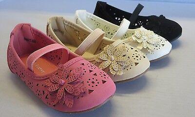 Girl Dress Flats w//Flower lorita42 Toddler Pageant Flower Girls Party Shoes
