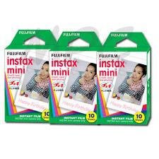 Fuji Instax Mini Instant Film (30 pics) f/ Model 7 7s 8 25 50 70 90 Cameras 2018