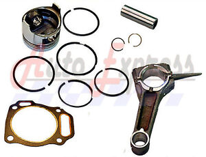 Honda-GX340-11hp-PISTON-RING-PIN-CLIPS-WITH-CONNECTING-ROD-FREE-HEAD-GASKET