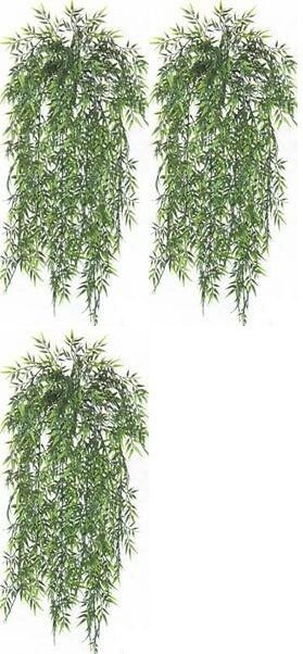 3 BAMBOO IVY BUSH 32  ARTIFICIAL PLANT IN OUTDOOR