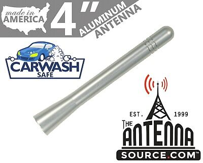"FITS **SHORT**  4/"" BLACK ALUMINUM ANTENNA 2006-2019 Chevrolet Silverado 3500"