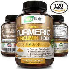 ? Turmeric Curcumin with Bioperine Black Pepper 95% Curcuminoids 1300mg 120 caps