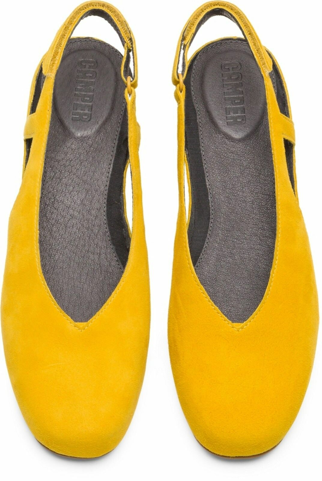 Camper Serena Nubuck - K200617-002 EU - U.K. 3 - EU K200617-002 36 - Yellow - Brand New In Box 2b2ac7