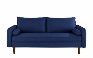 Contemporary Fabric Sofa, Lounge Living Room Couch with Bolster ...