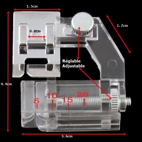 Pied à border réglable pied pose biais réglable 5 à 20 mm F071 XF7243-001 6290