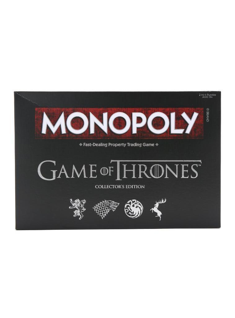 The Game Of Thrones Collectors Edition Monopoly Board Game Hot Topic USAopoly