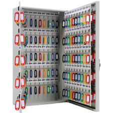 Wall Mount 300 Key Secure Storage Steel Locking Cabinet Key Organizer Safe Box