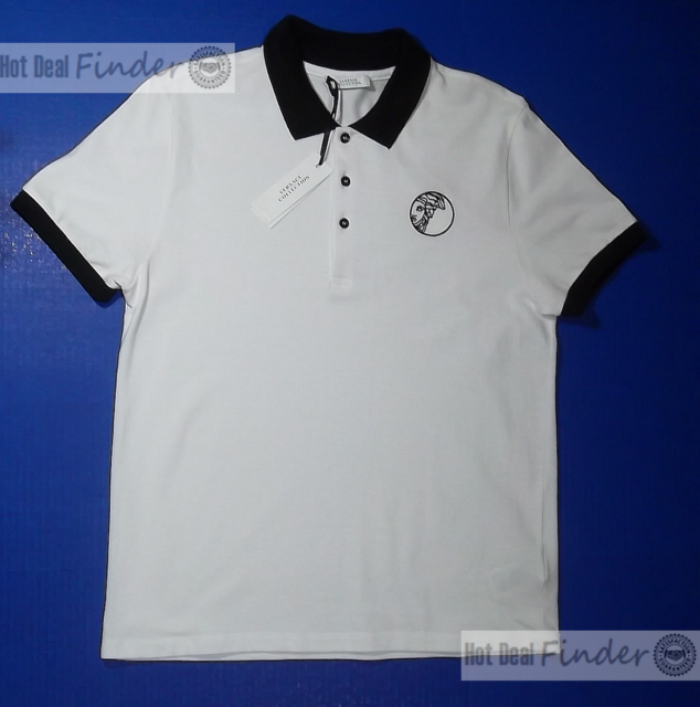 429a00253 NEW VERSACE COLLECTION = XL EXTRA LARGE= LOGO MEN'S WHITE POLO SHIRT  V800488S