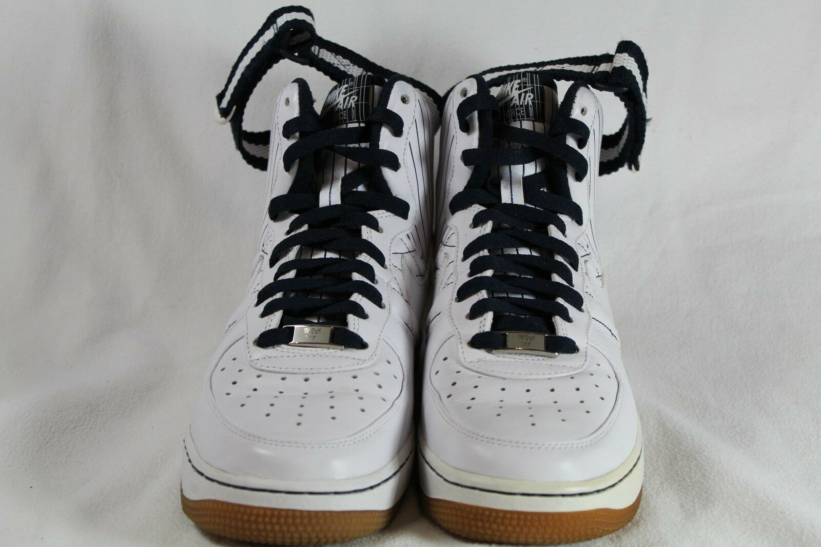 Nike Air Force 1 Yankees NYC Dimensione 8 Pre-Owned Pre-Owned Pre-Owned Worn Once 332490-111 5921e9