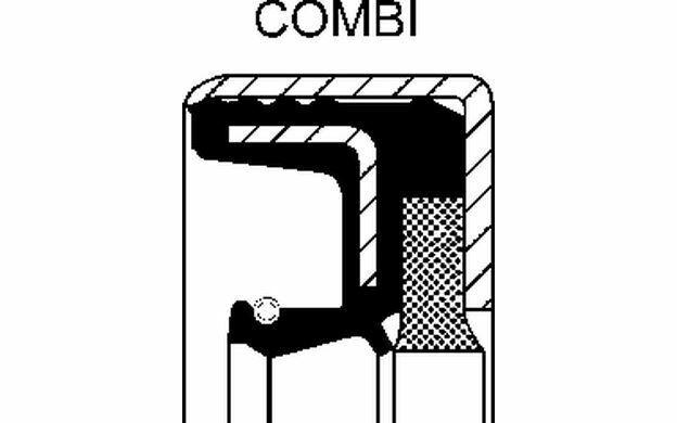 CORTECO Bague d'étanchéité (roulement de roue) 12001879B - Mister Auto