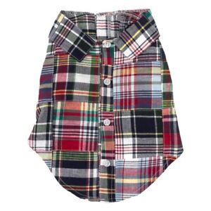 The-Worthy-Dog-Path-Navy-Madras-Shirt-100-Cotton-Preppy-Hipster-Sizes-XS-XXL