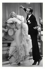 FRED ASTAIRE & GINGER ROGERS AUTOGRAPHED SIGNED A4 PP POSTER PHOTO