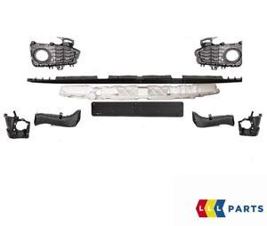 BMW-Genuine-4-F32-F33-F36-M-SPORT-PARACHOQUES-DELANTERO-conjunto-de-parte-de-Soporte-Rejilla-Trims