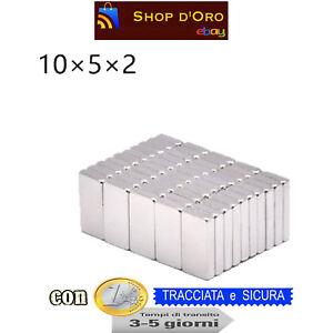 20-Pezzi-NEODIMIO-MAGNETE-10X5X2-mm-2-KG-CALAMITA-CALAMITE-MAGNETI