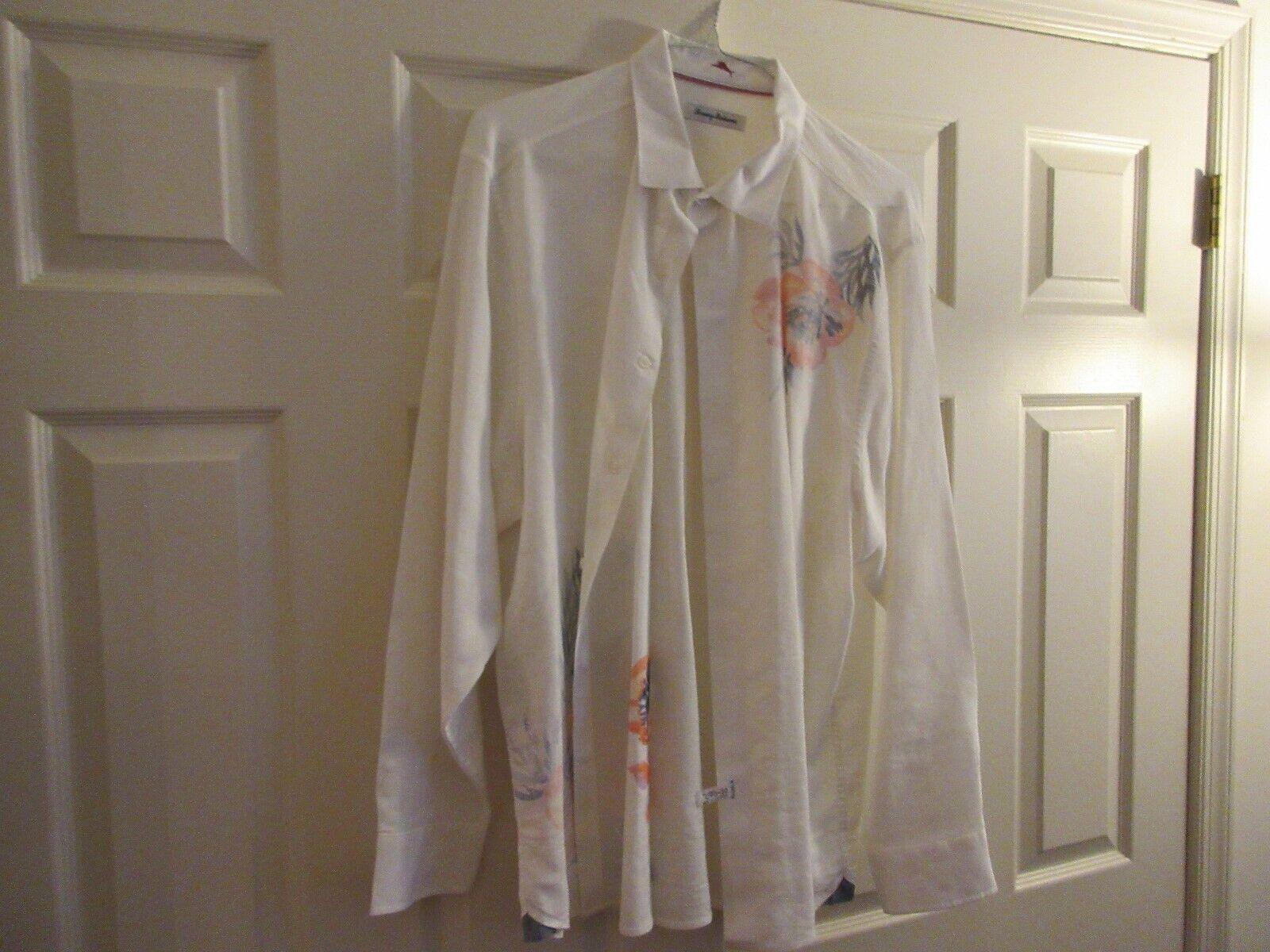 Tommy Bahama , Long Sleeve Men's Shirt , XL/TG, 65% Lin