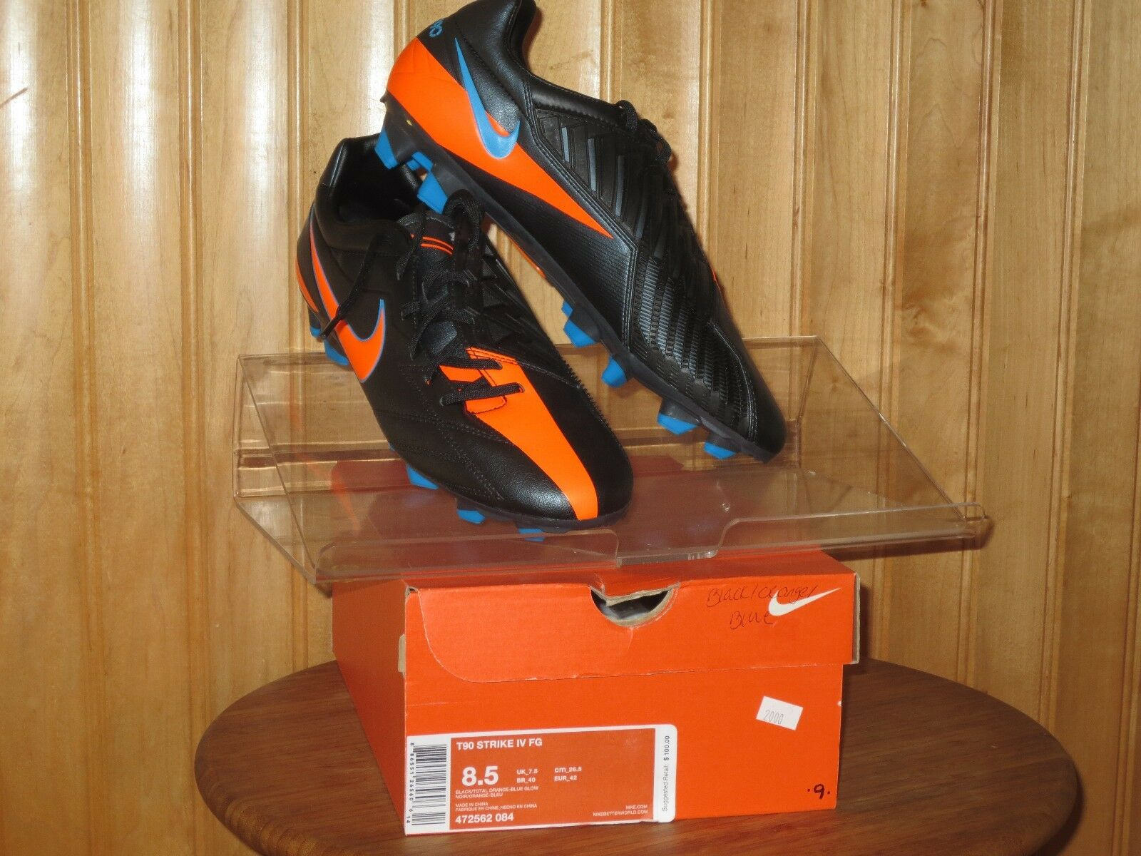 The most popular shoes for men and women NEW NIKE T90 STRIKE IV FG Soccer Cleats MENS Black Orange NIB