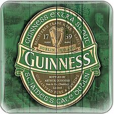 Guinness Green Label epoxy fridge magnet  75mm x 75mm    (sg)