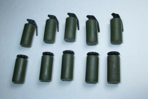 "Gi Joe Dragon 25th 1:6 Green Smoke Grenade Gas Can Accessory Lot for 12/"" Figure"