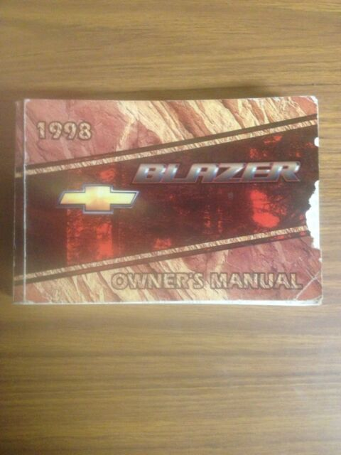 1998 Chevrolet Blazer Owners Manual