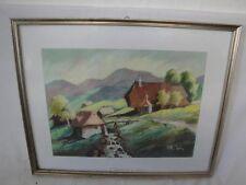 schönes Gemälde/Pastell Mühle am Erlenhof signiert Konanz