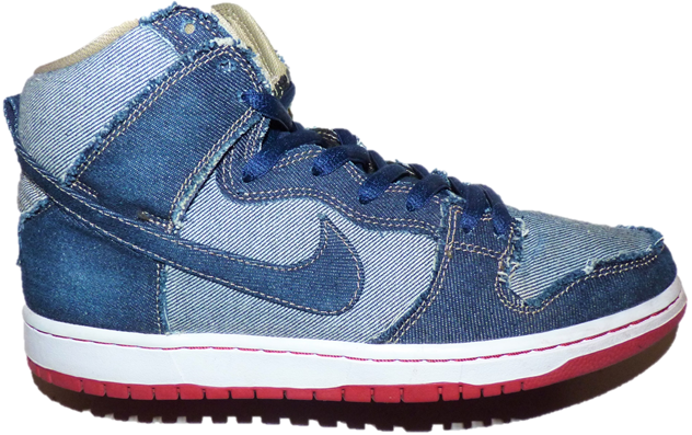 Size 10 - Nike SB Dunk High x Reese Forbes Denim 2017 for sale ...