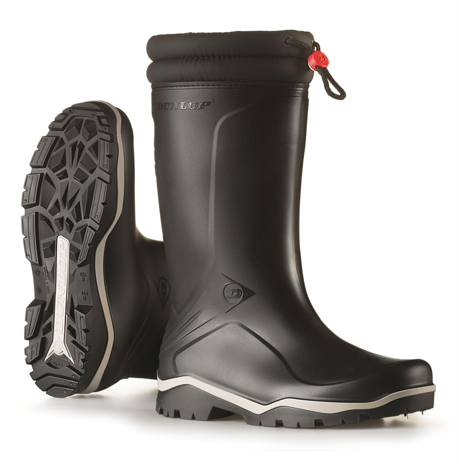 Dunlop Blizzard 2 schwarz Gummistiefel warm Fleece