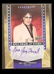 Twisted Sister Jay Jay French Signed 2008 Upper Deck Spectrum of Stars Auto Card