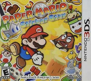 Paper-Mario-Sticker-Star-Nintendo-3DS-2012-Brand-New-Factory-Sealed