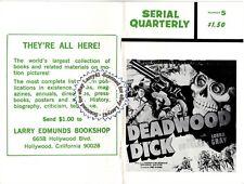 Serial Quarterly mag, DEADWOOD DICK w/Pix, #5, 1967, G-MEN VS. THE BLACK DRAGON,