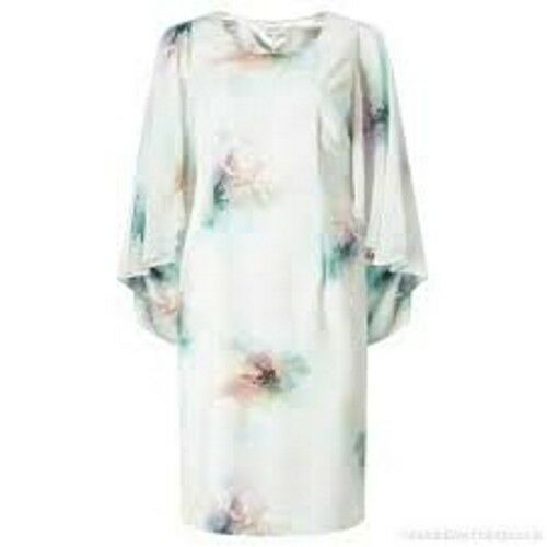 Green Nuovo Rrp Floral 165 14 Taglia Rose Dress Chiffon Green Cape Jacques Jacques wFfdOqF