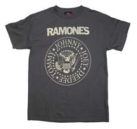 Men's Ramones Distressed Crest T-shirt Officially Licensed