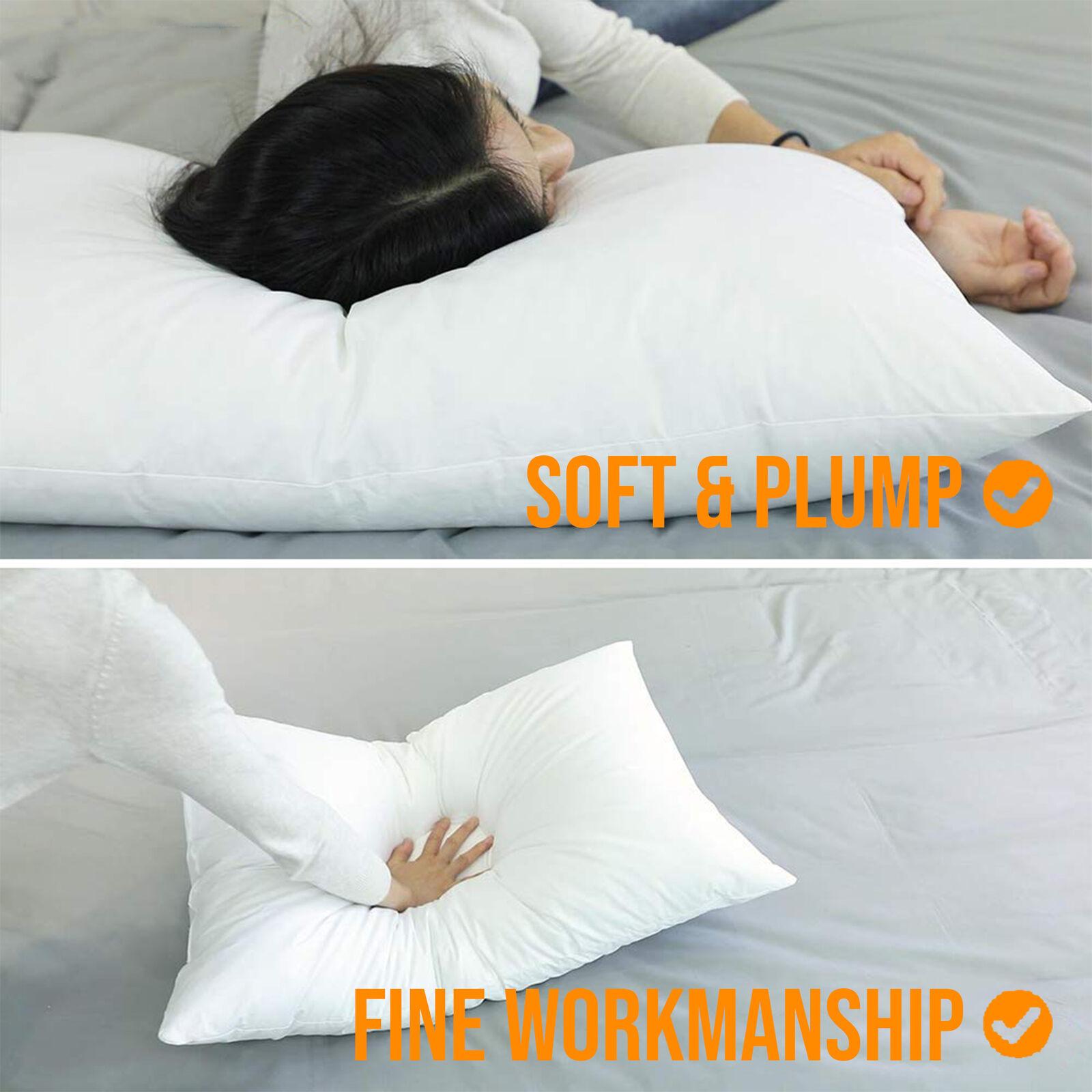 Super Bounce Back Pillows Hollow Fibre Filled Pillow 4 X Luxury Deluxe Pillows