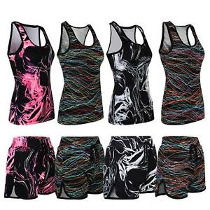 Ladies-Active-Run-Wear-Fitness-Gym-Sports-Vests-or-Shorts-Women-Vest-Shorts-XS-L
