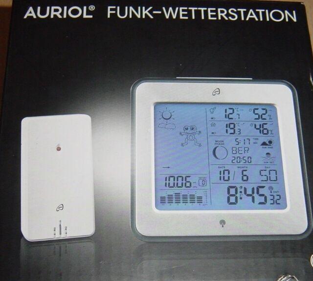 Funk Wetterstation Mit Außensensor Auriol Wetterstation Temperatur