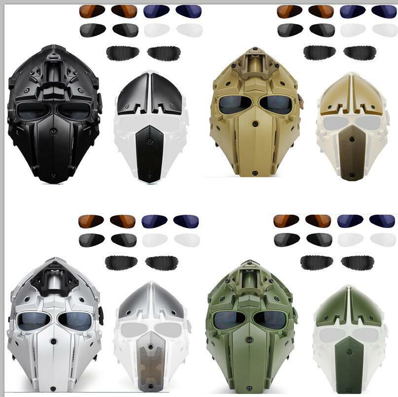 Full Face Predective Mask Goggle Helmet for Tactical Airsoft Hunting