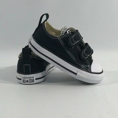 Converse Chuck Black White 2 Strap Baby Infant Toddler Boys Girls Shoe | eBay