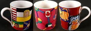 Save-the-Children-Lot-of-3-Coffee-Cups-Mugs-Flags-Pets-Children-All-Different