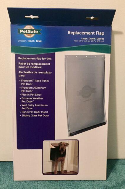 """NEW PetSafe Dog & Cat Door Replacement Flap Large 10 1/8"""" x 16 7/8"""" Tinted Vinyl"""