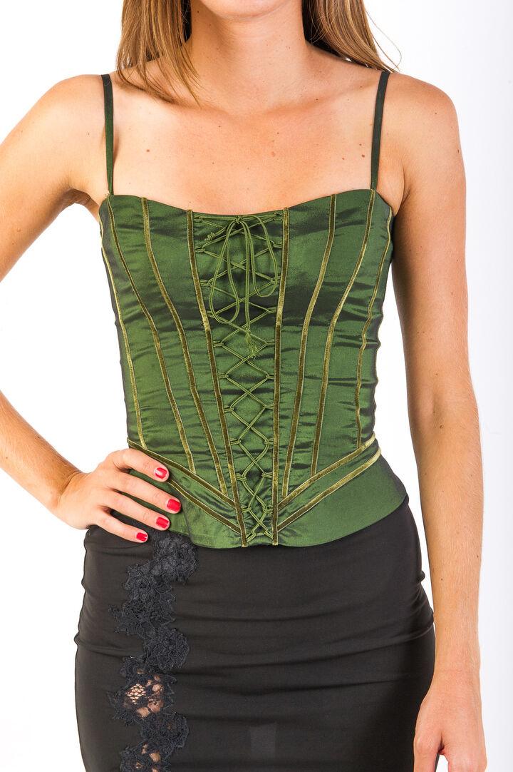 Corset Bustier Zinas Green Bra Top Casual Evening Wear