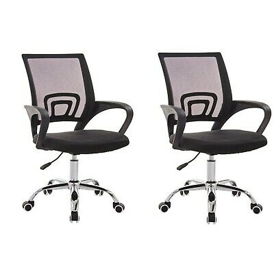 2 Chairs Home Or Office Chair Ergonomic Desk Mesh Lumbar Support Free Shipping Ebay