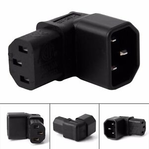 1pc right angled iec adapter 320 c14 to c13 for lcd lec tv - Slanted wall tv mount ...