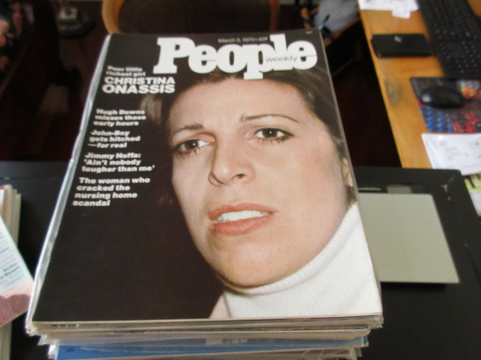 People Magazine , Christina Onassis , 3/3/75 , John-Boy