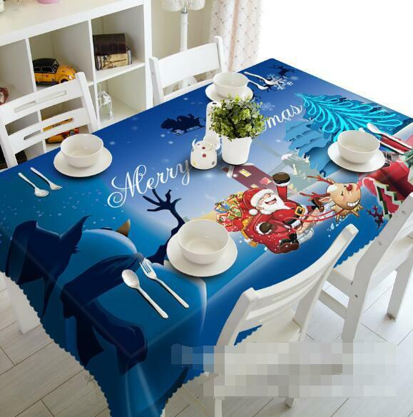3D Snowman 53 Tablecloth Table Cover Cloth Birthday Party Event AJ WALLPAPER AU