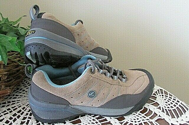 KEEN leather Outdoor Hiking Walking Trail Boots shoes-bluee brown-7.5m-nice   online at best price