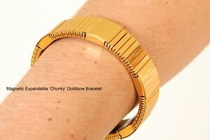 Chunky-Gold-Magnetic-Bracelet-Magnet-Therapy-Product