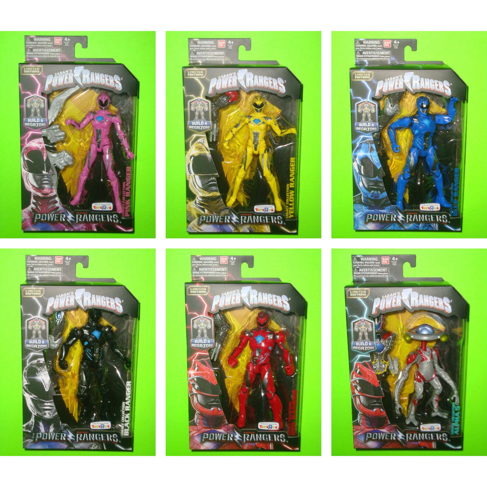 Set Aller 6 - 2017 Power Rangers 15.2cm Legacy Kollektion Spielsachen R Us