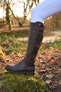 192927d9c19 Image is loading Mark-Todd-MASTERTON-Tall-Boots-Cognac-Waterproof-Leather-