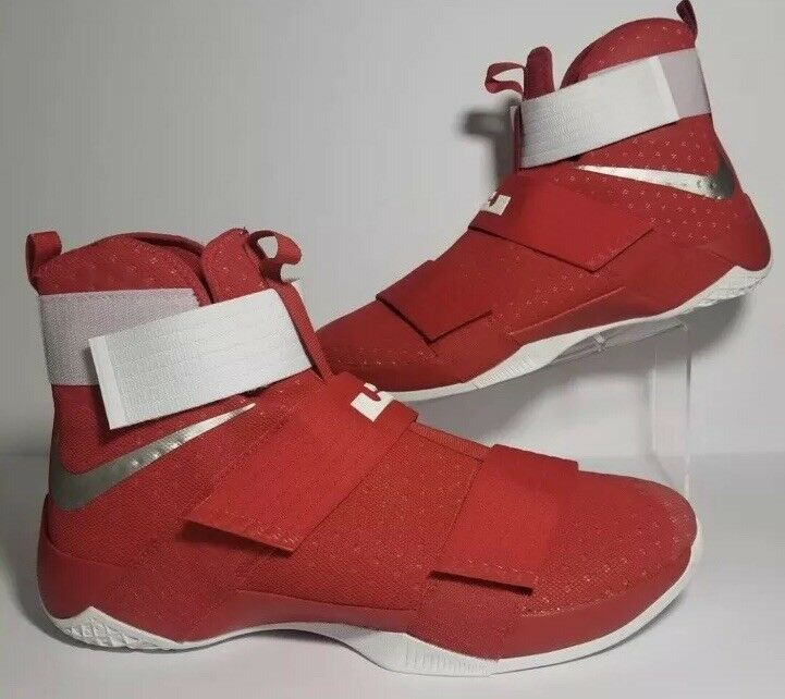 Nike LeBron Soldier 10 TB Team Red Basketball shoes 856489-663 Mens SZ 17