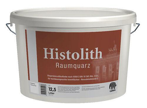 8x Caparol Histolith Raumquarz 12,5 Liter -Nassabriebklasse 1, Sol-Silikatfarbe-