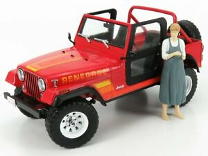 GREENLIGHT 1/18 JEEP | CJ-7 RENEGADE OPEN WITH SARAH CONNOR FIGURE 1983 - THE...